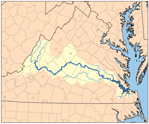 The James River watershed