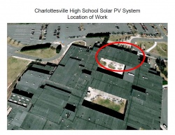 Location of solar panels on CHS roof